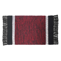 P tapis rectangle 50 x 80 cm coton jacquard cuzco  382555 Rouge