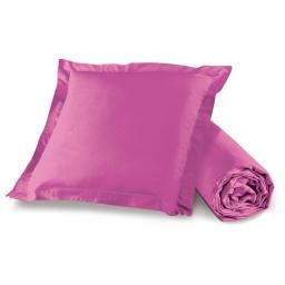 Pack drap housse 1 personne 90 x 190 + 1 to 63 x 63 pt bourdon lina Bois de rose