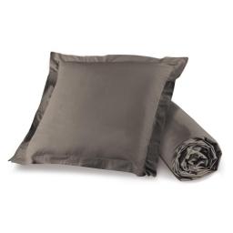 Pack drap housse 1 personne 90 x 190 + 1 to 63 x 63 pt bourdon lina Noisette