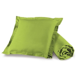 Pack drap housse 1 personne 90 x 190 + 1 to 63 x 63 pt bourdon lina Pistache
