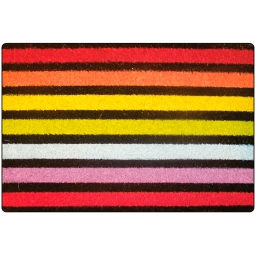paillasson rectangle 40 x 60 cm coco imprime fond couleur baya
