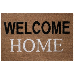 paillasson rectangle 40 x 60 cm coco imprime welcome