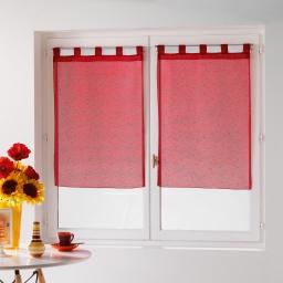 Paire droite passants 2 x 60 x 160 cm voile fils coupes dandy Rouge