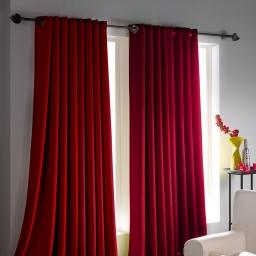 Paire rideaux occultant et isolant Occulte intense Rouge