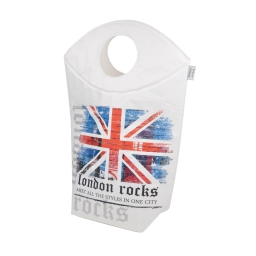 panier a linge 54xh76cm -douceur d'interieur theme london rocks