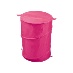 Panier a linge pop up 63l  douceur d'interieur theme vitamine 100% polyes Fuchsia