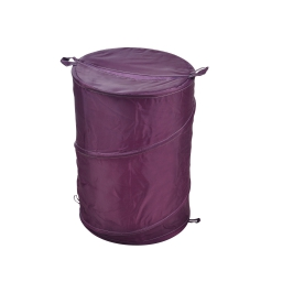 Panier a linge pop up 63l  douceur d'interieur theme vitamine 100% polyeste Prune