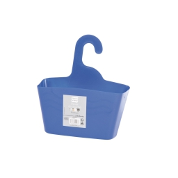 Panier de douche a suspendre plastique bl roi douceur d'interieur theme vitamine Bleu roi