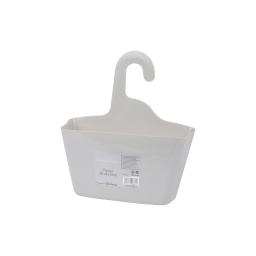 panier de douche a suspendre plastique vitamine gris clair