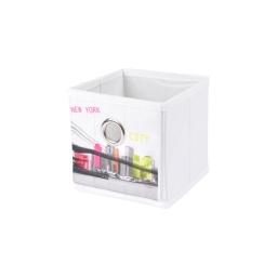 panier de rangement 12*12*12cm douceur d'interieur design colour bridge 100% pol