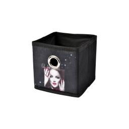 panier de rangement 12*12*12cm douceur d'interieur design glam chic 100% polyest