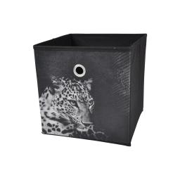 panier de rangement 26*26*26cm douceur d'interieur design panthere