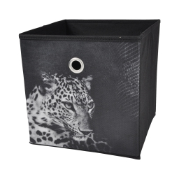 panier de rangement 31*31*31cm douceur d'interieur design panthere