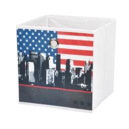 panier de rangement 31*31*31cm douceur d'interieur theme west side100% polyester