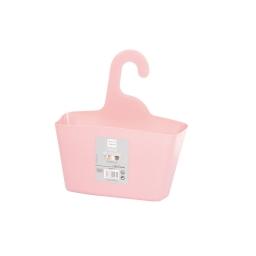 Panier douche a suspendre plastique rose poudré douceur d'interieur theme vitami Rose poudre