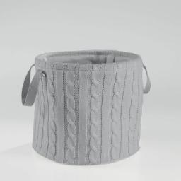 Paniere (0) 38 cm x ht 34 cm tricot lainy Gris