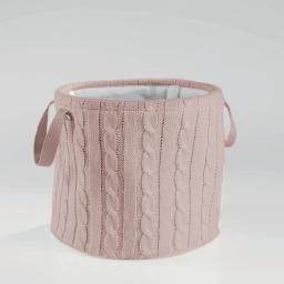 Paniere (0) 38 cm x ht 34 cm tricot lainy Rose