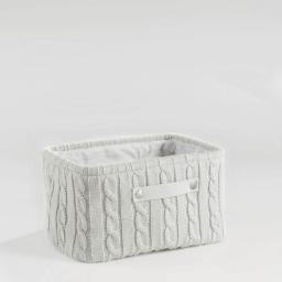 Paniere 36 x 26 cm x ht 20 cm tricot lainy Naturel