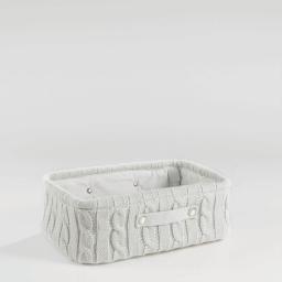 Paniere 38 x 26 cm x ht 13 cm tricot lainy Naturel
