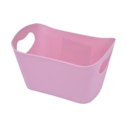 paniere rangement plastique l22.5*p14.5*h13cm vitamine rose poudré