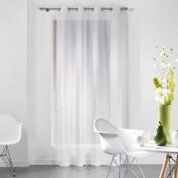 Panneau a oeillets 140 x 240 cm voile fils coupes dandy Blanc
