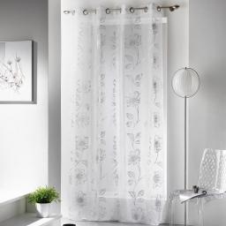 Panneau a oeillets 140 x 240 cm voile imprime celia Argent