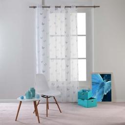 Panneau a oeillets 140 x 240 cm voile imprime hesperia Bleu
