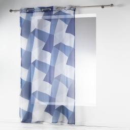 panneau a oeillets 140 x 240 cm voile imprime transfert blue square
