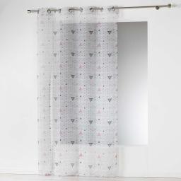 Panneau a oeillets 140 x 240 cm voile imprime transfert cylia Blanc