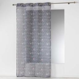 Panneau a oeillets 140 x 240 cm voile imprime transfert cylia Gris