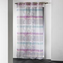 panneau a oeillets 140 x 240 cm voile imprime transfert delora