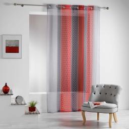 Panneau a oeillets 140 x 240 cm voile imprime transfert galliance Rouge