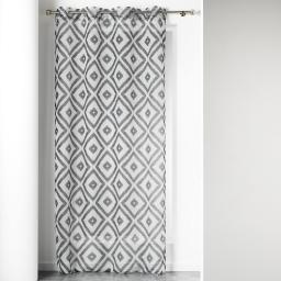 Panneau a oeillets 140 x 240 cm voile imprime transfert ikati Blanc