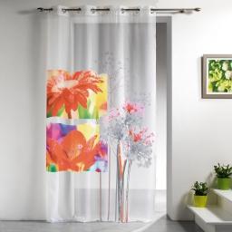panneau a oeillets 140 x 240 cm voile imprime transfert iris