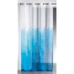 Panneau a oeillets 140 x 240 cm voile imprime transfert new center Bleu