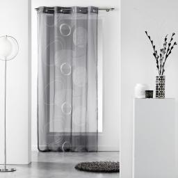 Panneau a oeillets 140 x 240 cm voile imprime transfert spirale Anthracite