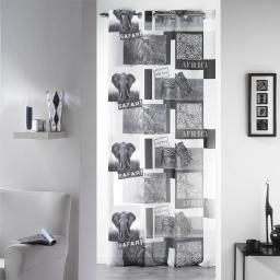 Panneau a oeillets 140 x 240 cm voile imprime transfert vie sauvage Blanc