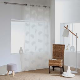 Panneau a oeillets 140 x 240 cm voile sable applique siloa Blanc