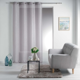 Panneau a oeillets 140 x 240 cm voile sable raye esther Taupe
