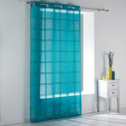 Panneau a oeillets 140 x 240 cm voile sable raye peps Turquoise