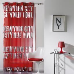 Panneau a oeillets 140 x 260 cm voile imp. argent ny silver  des. place Rouge