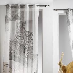 panneau a oeillets 140 x 260 cm voile imprime transfert guepard des. place
