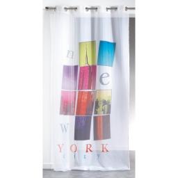 Panneau a oeillets 140 x 260 cm voile imprime transfert new city  des place Blanc