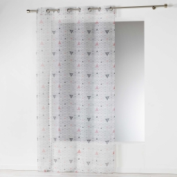 Panneau a oeillets 140 x 280 cm voile imprime transfert cylia Blanc