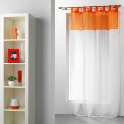 Panneau a passants 140 x 240 cm voile bicolore duo Blanc/Mandarine