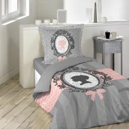 parure 2 p. 140 x 200 cm imprime 57 fils dessin place boudoir