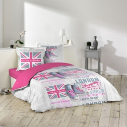 parure 3 p. 240 x 220 cm imprime 42 fils allover girly london