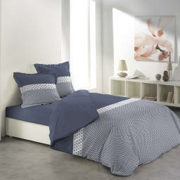 Parure 3 p. 260 x 240 cm imprime 57 fils allover agatha Bleu