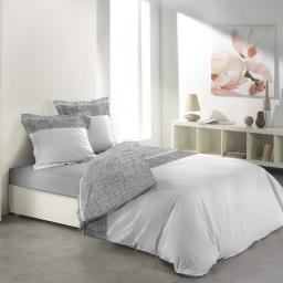 Parure 3 p. 260 x 240 cm imprime 57 fils allover carmina Blanc
