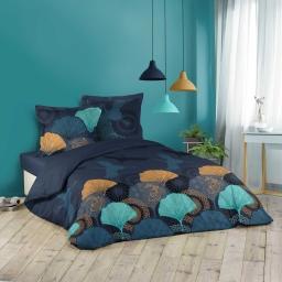 Parure de lit 220x240 cm + taies 100% coton Belle nuit